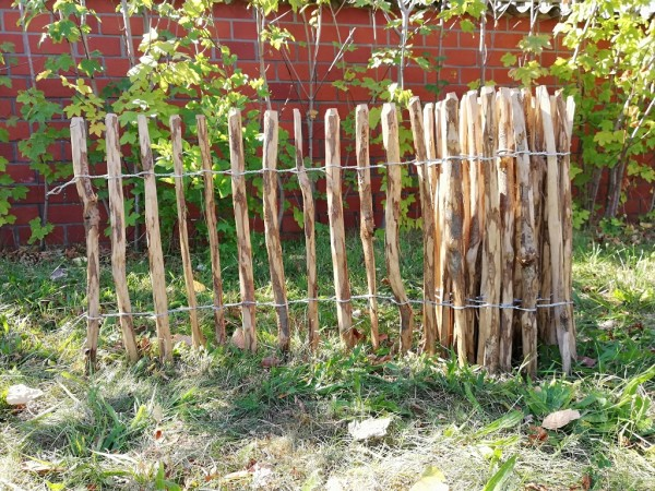 staketenzaun haselnuss 60 cm - 5 m - za 3/5 cm
