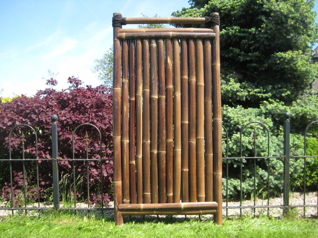 bambuszaun kajuku 180 cm hoch x 90 cm breit sichtschutz aus bambus bambuszaun. Black Bedroom Furniture Sets. Home Design Ideas
