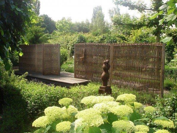 Weidenflechtzaun Roma - 180 cm hoch x 120 cm breit - Sichtschutzelement / Weidengeflecht