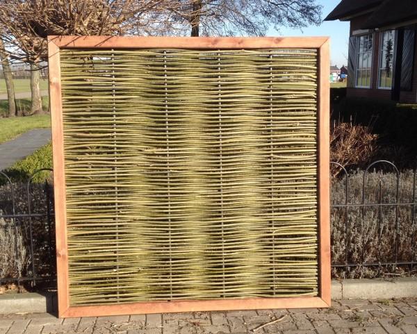 Weidenflechtzaun Roma excl. - 180 cm hoch x 90 cm breit - Sichtschutzelement / Weidengeflecht