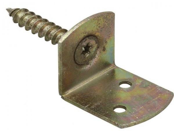Flechtzaunbeschlag L Forn, 83 mm, gelbverzinkt mit Schraube