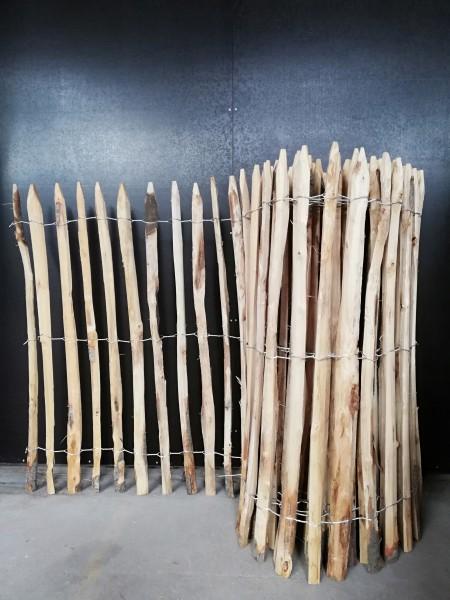 kastanienholz 120 cm h 10 m l za 4 5 cm franz sischer staketenzaun rollzaun 120 122. Black Bedroom Furniture Sets. Home Design Ideas
