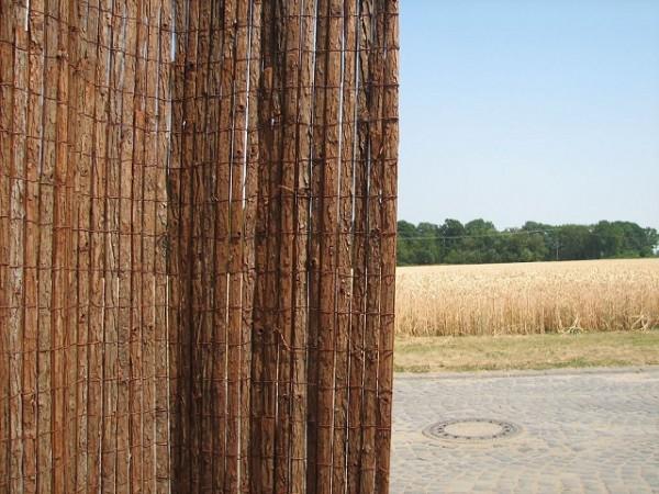Baumrindenmatte 200 cm hoch x 300 cm lang Sichtschutz