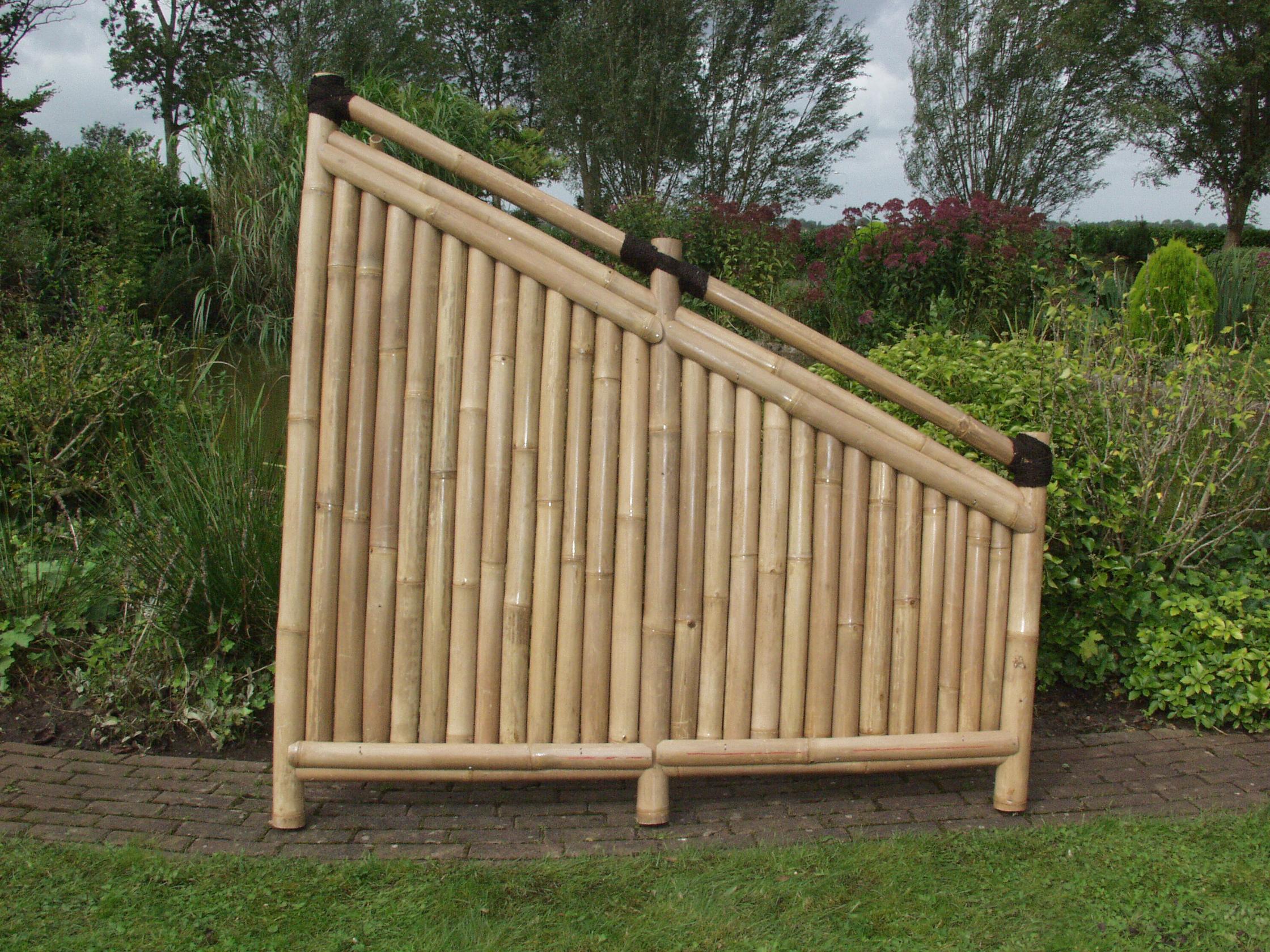 Bambuszaun Kajuku 180 90 Cm Hoch X 180 Cm Breit Sichtschutz
