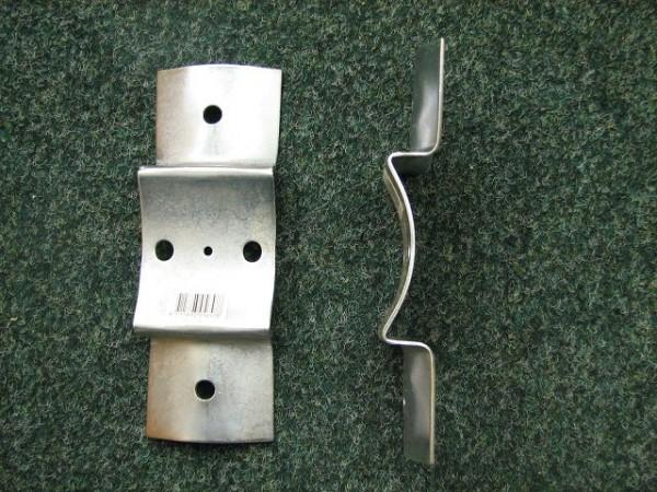 Rundholz-/ Palisadenbeschlag für ca. 80 mm Rundpfahl, verzinkt - 20 Stück im Paket