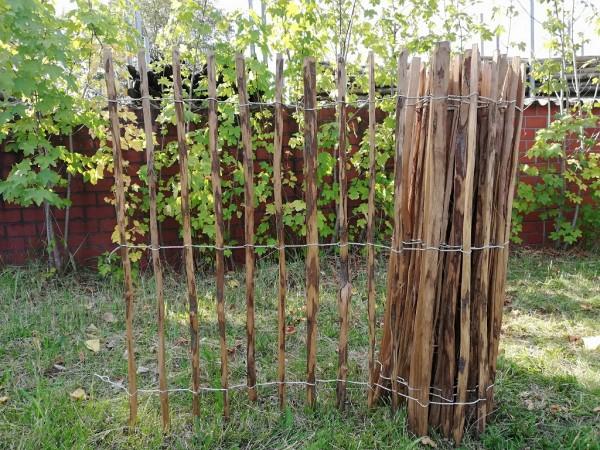 staketenzaun haselnuss 120 cm - 5 m - za 7/9 cm