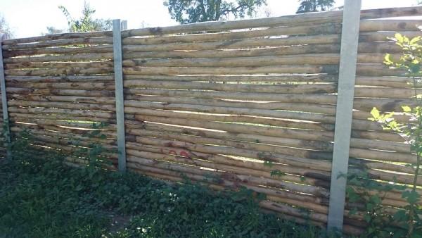 Sichtschutz aus Holz 10/12 cm Ø - Sichtschutz Kastanienholz