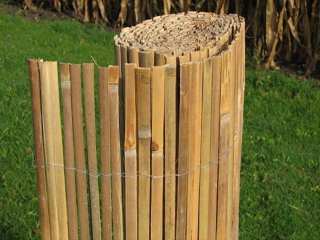 bambus gespalten 100 cm hoch x 500 cm lang sichtschutz. Black Bedroom Furniture Sets. Home Design Ideas