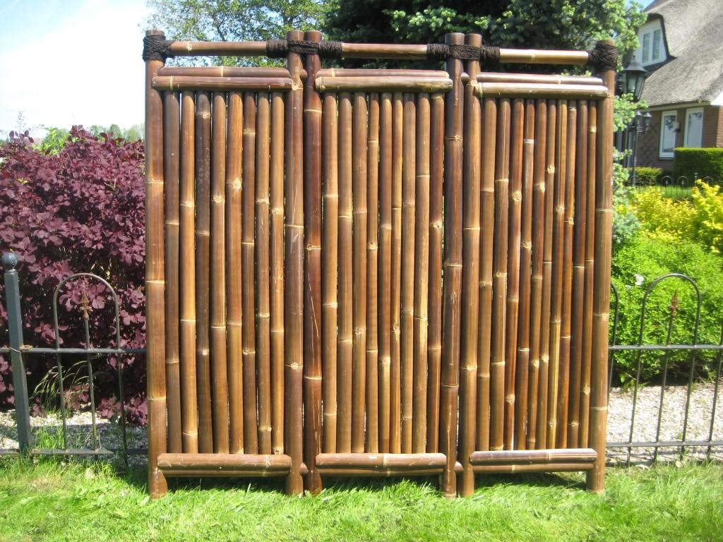 bambuszaun kajuku 180 cm hoch x 180 cm breit. Black Bedroom Furniture Sets. Home Design Ideas