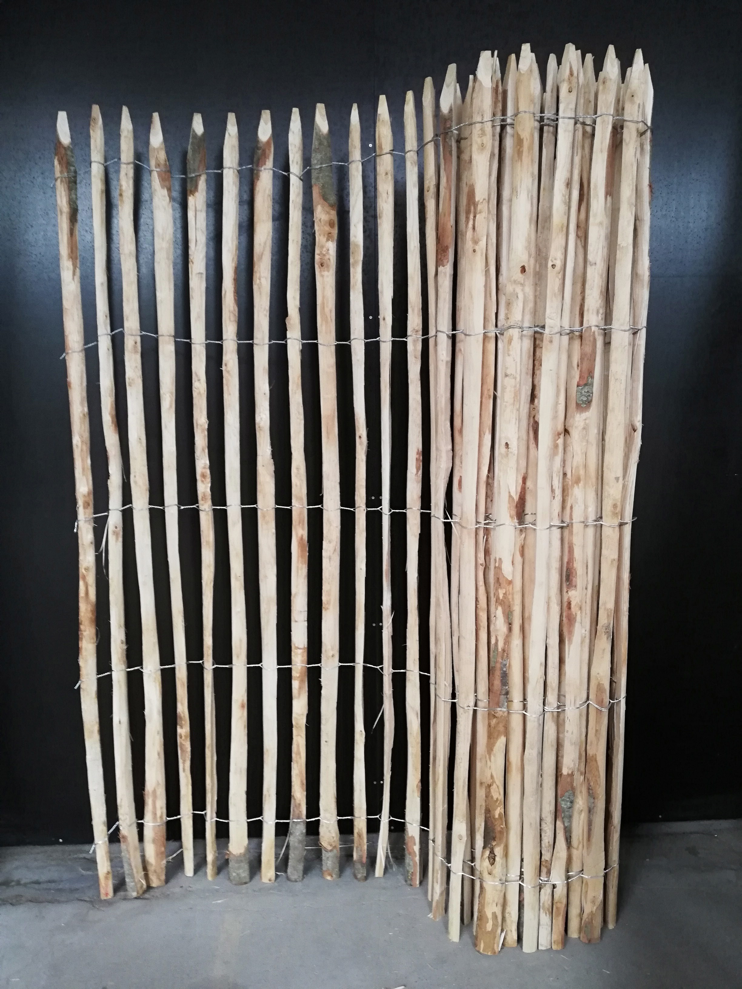 200 cm hoch staketenzaun natur pro kastanie shop. Black Bedroom Furniture Sets. Home Design Ideas