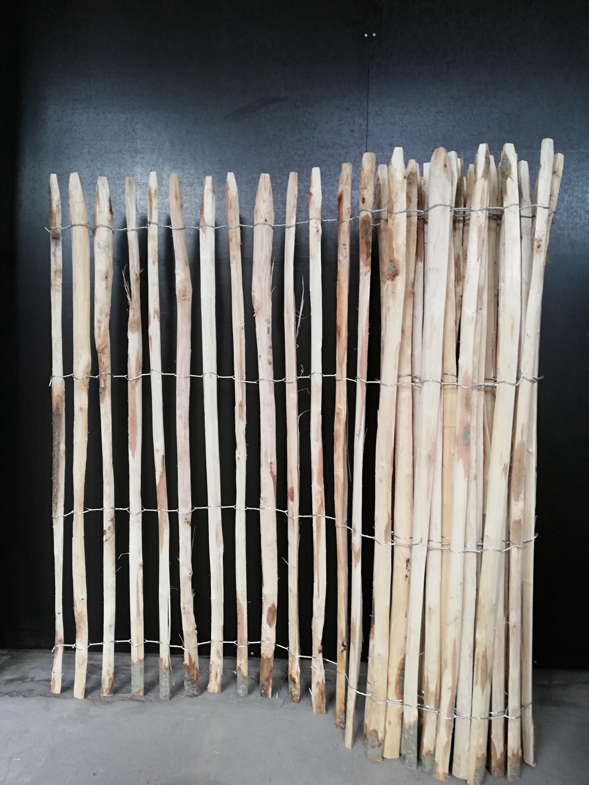 kastanienholz 150 cm h - 5 m l - za 4/5 cm, staketenzaun
