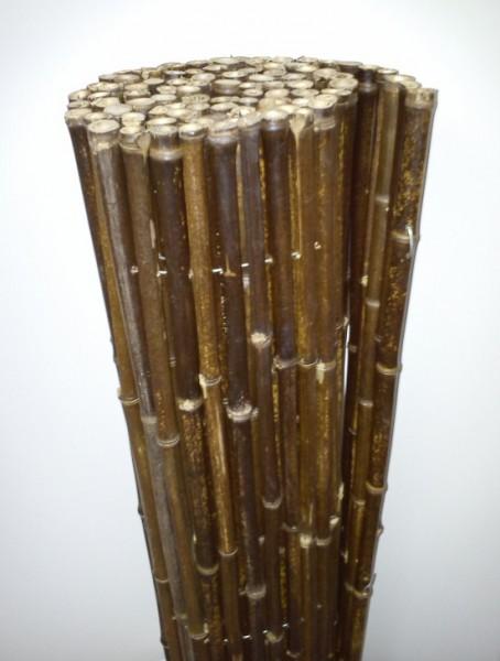 bambusrohr black 100 cm hoch x 180 cm lang sichtschutz bambusmatte black bambusmatten. Black Bedroom Furniture Sets. Home Design Ideas